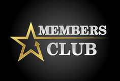 Club de membres Photos stock
