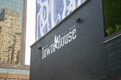 Club de noche de la casa urbana Imágenes de archivo libres de regalías