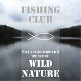 Club 1 de pêche Images stock