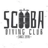 Club de plongée à l'air Illustration de vecteur Images libres de droits