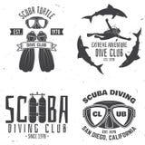 Club de plongée à l'air Illustration de vecteur Photo stock