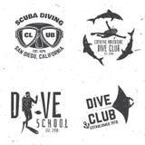 Club de plongée à l'air Illustration de vecteur Photos libres de droits