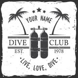 Club de plongée à l'air Illustration de vecteur Photos stock