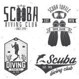 Club de plongée à l'air Illustration de vecteur Photographie stock
