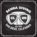 Club de plongée à l'air Illustration de vecteur Image stock