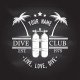 Club de plongée à l'air Illustration de vecteur Image libre de droits