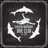 Club de plongée à l'air Illustration de vecteur Photographie stock libre de droits