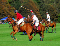 Club de polo du club v. Tiverton de polo de Newport Images stock