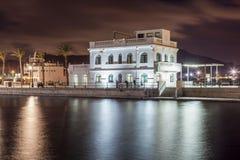Club de Regata在卡塔赫钠,西班牙 免版税库存图片