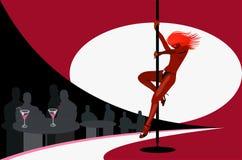 Club de striptease illustration de vecteur
