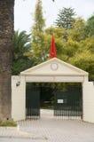 Club de tenis privado de la entrada Carthage Túnez Fotografía de archivo libre de regalías