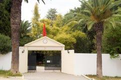 Club de tenis privado de la entrada Carthage Túnez Imagen de archivo
