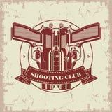Club de tir de symbole Photographie stock