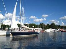 Club de yacht à Riga Images stock
