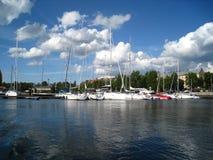 Club de yacht à Riga Images libres de droits