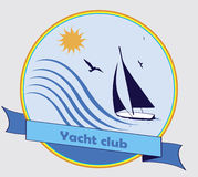Club de yacht illustration stock