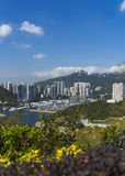 Club de yacht d'abri d'ouragan de Hong Kong Images stock