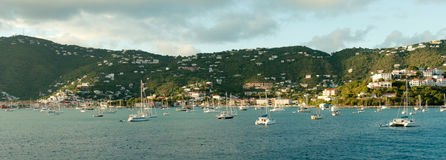 Club de yacht dans le saint Thomas photos libres de droits