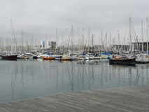 Club de yacht de Barcelone Photo stock