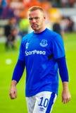 Club del fútbol de Wayne Rooney y de Everton fotografía de archivo