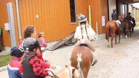 Club del montar a caballo almacen de video