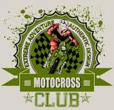 Club del motocrós stock de ilustración