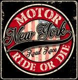 Club del motore di tipografia di New York Immagine Stock Libera da Diritti