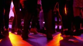 Club del partido de la música de danza almacen de metraje de vídeo