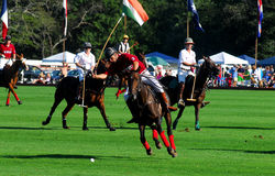 Club del polo del club v. Tiverton del polo de Newport Fotos de archivo