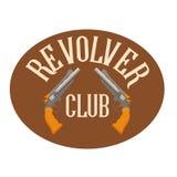 Club del tiroteo del logotipo Stock de ilustración