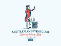 Club del vino del ` s del signore colorato Fotografia Stock Libera da Diritti
