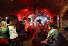 Club della caverna Immagine Stock