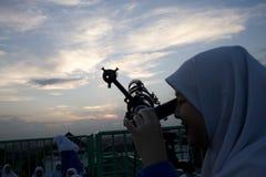CLUB DI ASTRONOMIA DELLO STUDENTE DELL'INDONESIA Immagini Stock