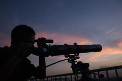 CLUB DI ASTRONOMIA DELLO STUDENTE DELL'INDONESIA Fotografia Stock Libera da Diritti