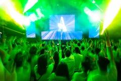 Club di ballo con il DJ Fotografia Stock