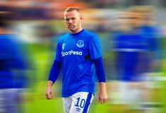 Club di calcio di Everton e di Wayne Rooney Immagine Stock