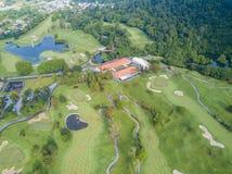 Club di golf con i laghi Malesia sparata in fuco Immagini Stock Libere da Diritti