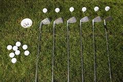 Club di golf con la sfera & l'azionamento Fotografia Stock Libera da Diritti