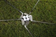 Club di golf con la sfera & l'azionamento Immagini Stock Libere da Diritti