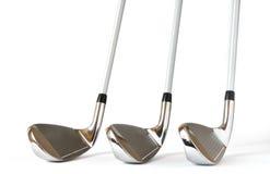 Club di golf del cuneo di lancio 8 e 9 del ferro, Fotografie Stock Libere da Diritti
