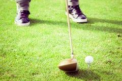 Club di golf del driver Fotografie Stock