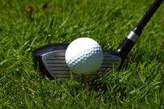 Club di golf e palla Fotografie Stock Libere da Diritti