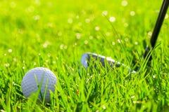 Club di golf e palla Fotografia Stock