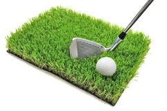 Club di golf e sfera Immagine Stock