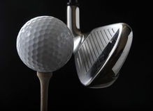 Club di golf e sfera Fotografia Stock Libera da Diritti