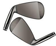 Club di golf isolati su bianco immagine stock libera da diritti