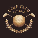 Club di golf, logo di vettore del campo da golf Immagine Stock