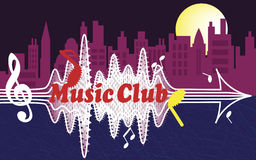 Club di musica della città Fotografia Stock