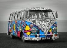 Club di visita d'annata di volkswagen fotografia stock