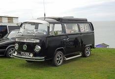 Club di visita d'annata di Volkswagen costiero fotografia stock